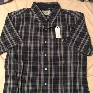 Men's Button Up Polo Pattern Short Sleeve Shirt
